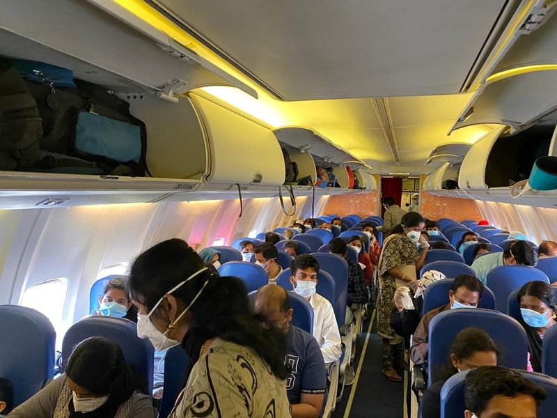Passengers on board Abu Dhabi flight