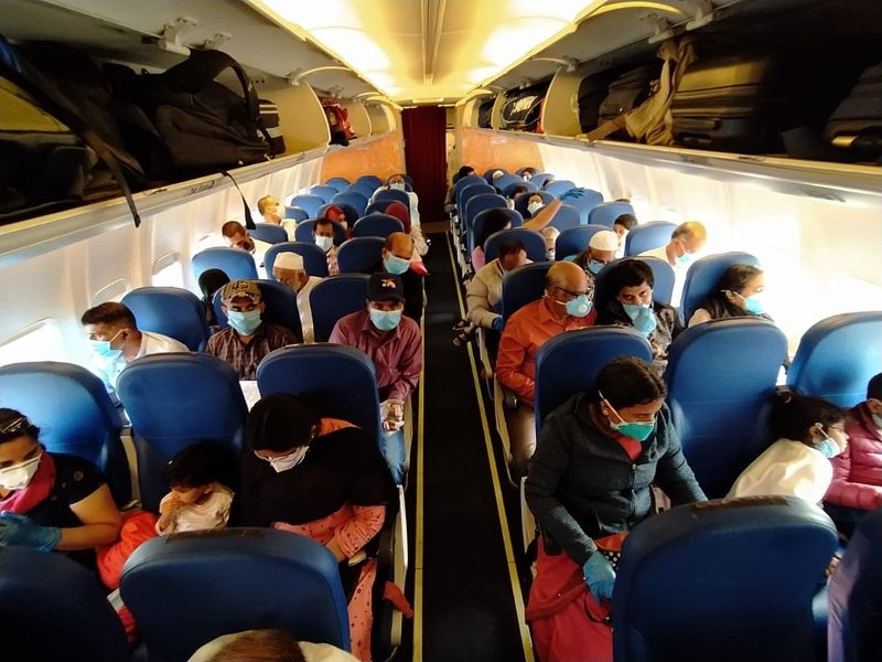 Passengers on board the Khozikode flight