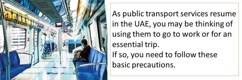 Public transport precautions 1