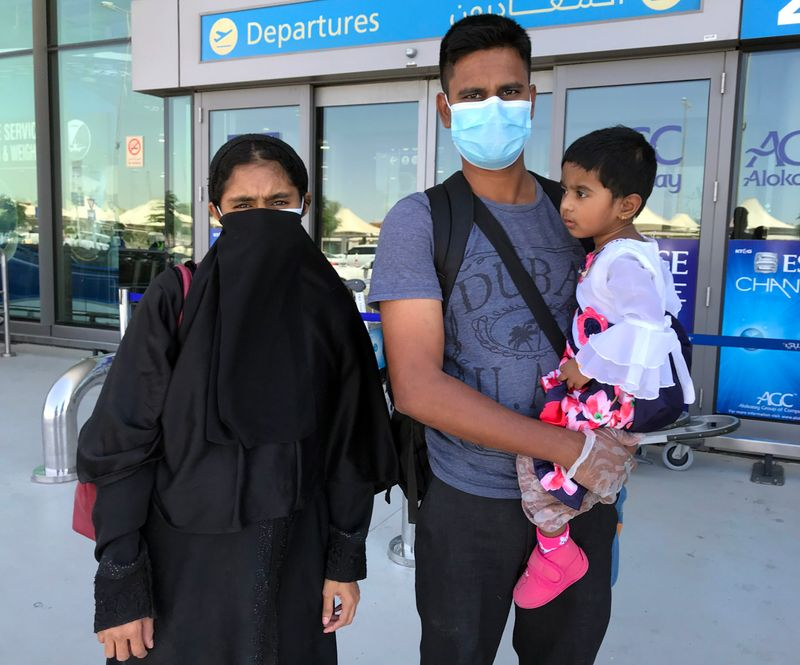 Jayalabdeen with his family