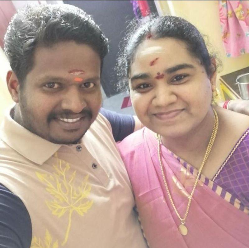 Kollamal with her husband