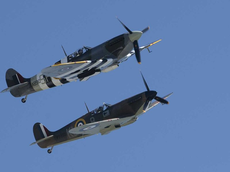 Spitfires Britain Dover 75 anniversary victory day