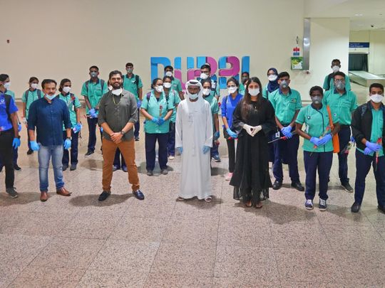 88 ICU nurses from India arrive at Dubai Airport Terminal Two on Saturday