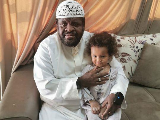 Coronavirus survivor Zayed Al Alawi with his daughter