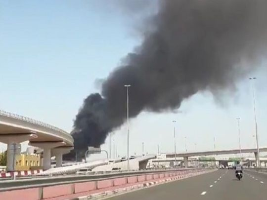 Fire breaks out near Dubai Airport on Saturday morning