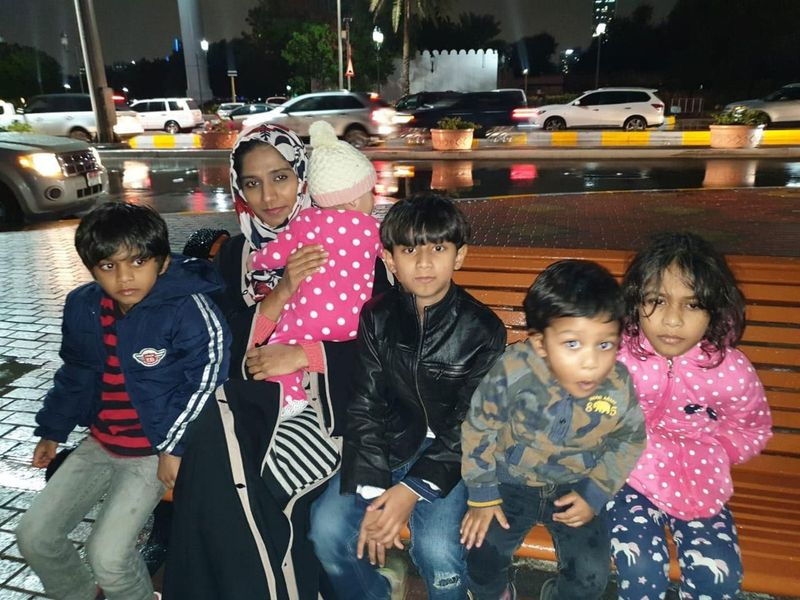 Habeeba Mohammad with her five children
