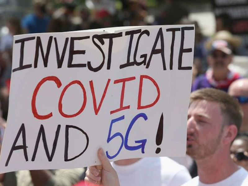Some conspiracy theorists believe COVID-19 is linked to 5G.
