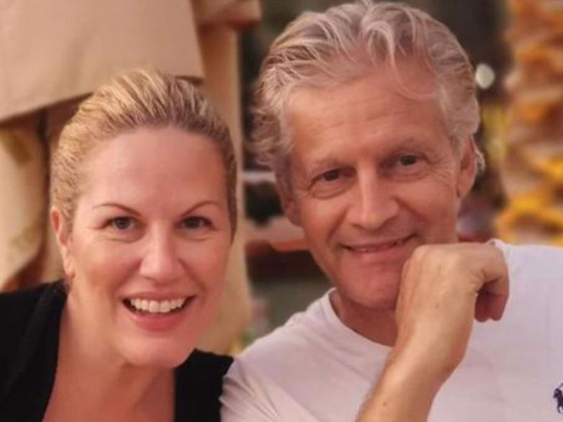 Zena Melki with husband Karim