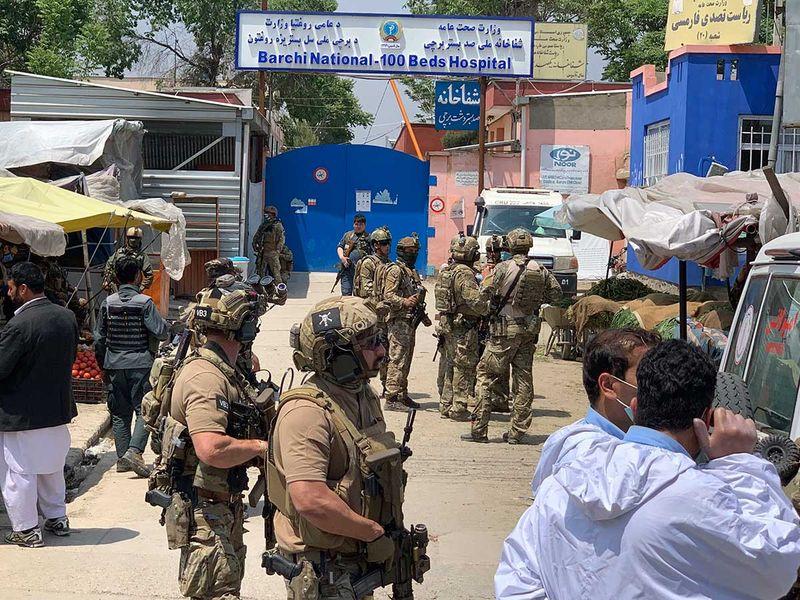 Afghan hospital security guard shooting gunmen Daesh