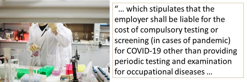 Can your employer force you to pay for a COVID-19 test, even when you are not showing the symptoms?