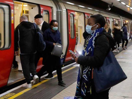London subway tube rail
