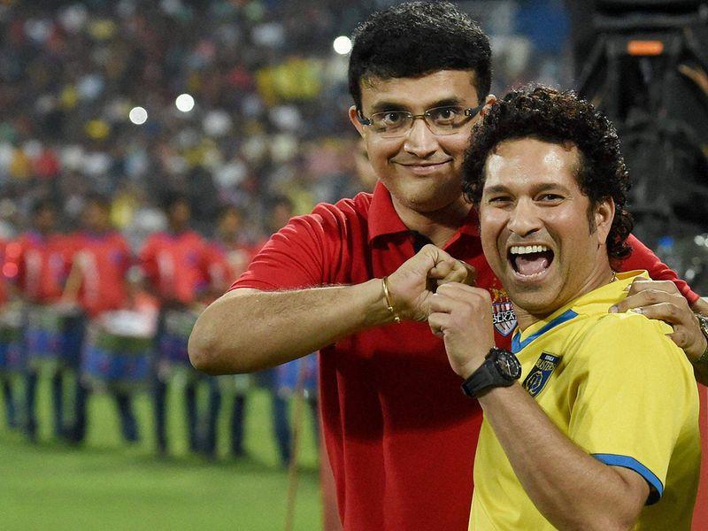 Saurav Ganguly and Sachin Tendulkar.