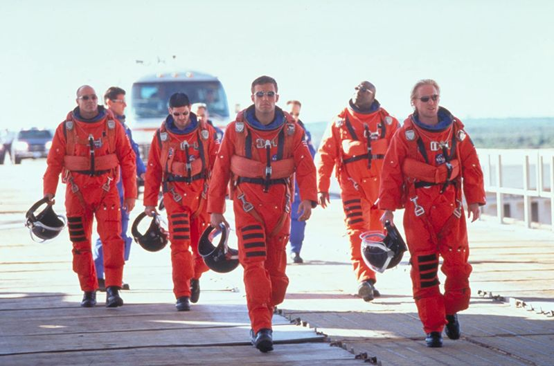 Ben Affleck, Michael Clarke Duncan, Owen Wilson, and Greg Collins in Armageddon (1998)
