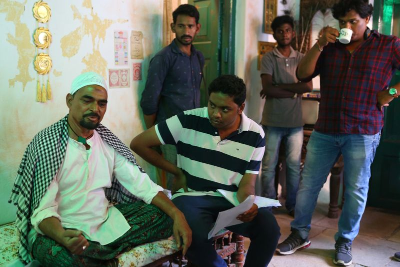 Director Abhilash Reddy with actor Sayaji Shinde on the sets of Loser-1589349008984