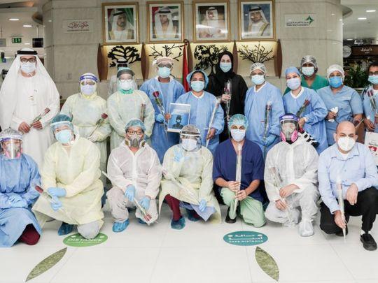 NAT 200513  Nurses Day celebration at Rashid Hospital organised by National Air Cargo-1589374962789