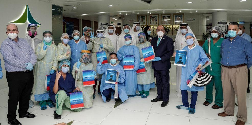 NAT 200513  Nurses Day celebration at Rashid Hospital organised by National Air Cargo1-1589374965300