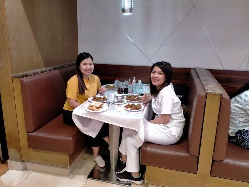 Nurses enjoying a dinner together
