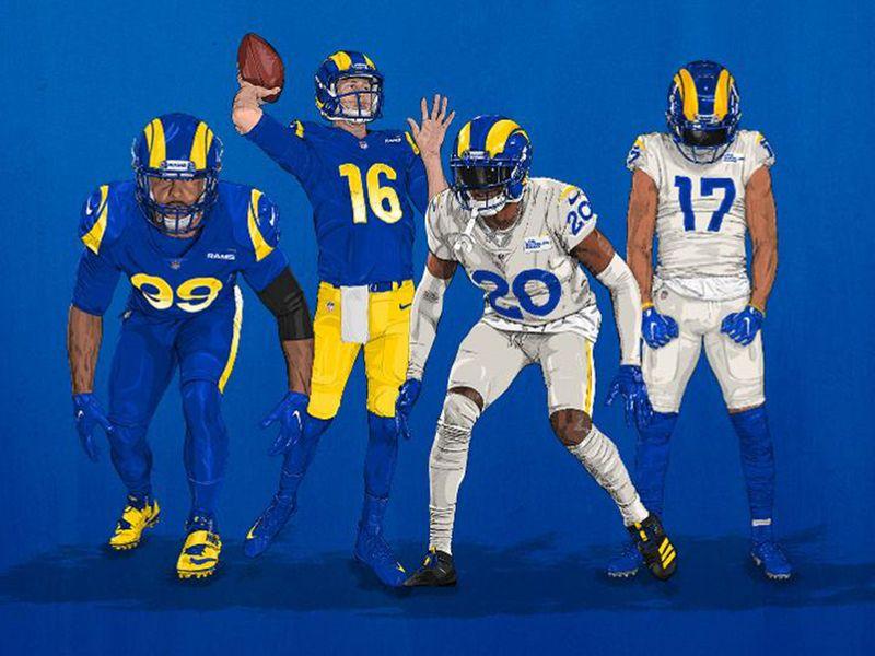 Brash colours and helmet look more Robocop than Rams