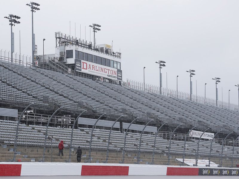 Drivers will need to get used to empty stands for the Darlington 400 this time around.