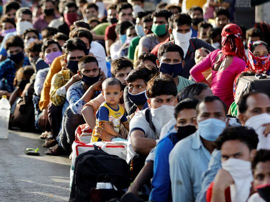 Migrants workers India railway