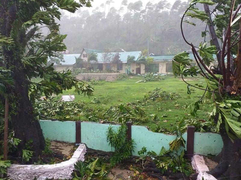 Samar school typhoon