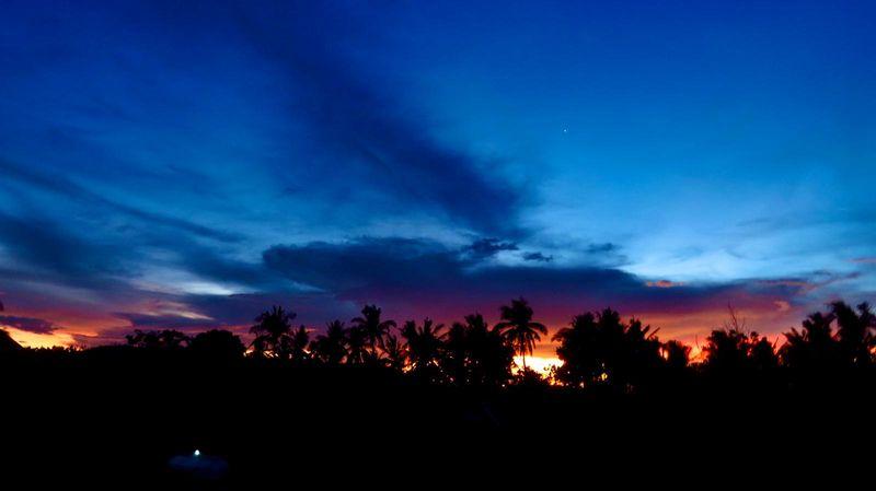 Storm clouds Sorsogon Philippines