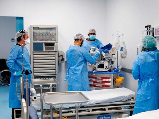 Qatar field hospital coronavirus Doha