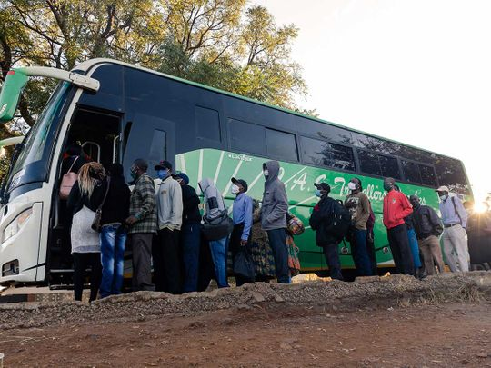 Zimbabwe bus passengers