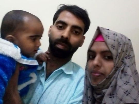 Shafeer and Sukeena with their child
