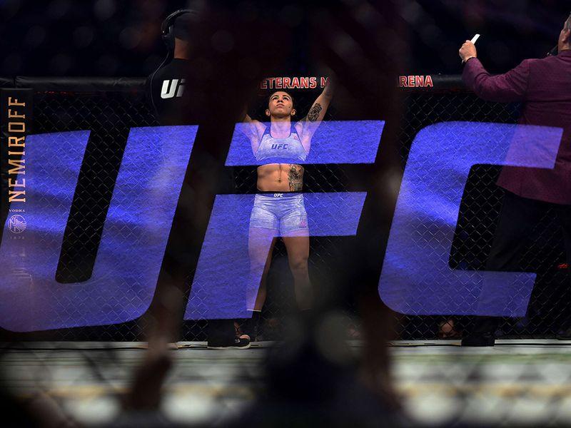 Claudia Gadelha v Angela Hill (during UFC Fight Night at VyStar Veterans Memorial Arena in Jacksonville, Florida.