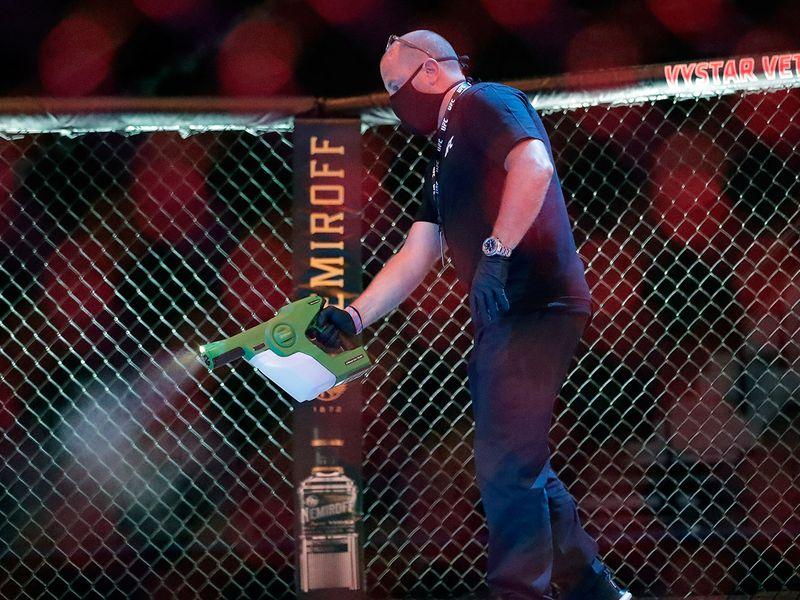 Alistair Overeem v Walt Harris during UFC Fight Night at VyStar Veterans Memorial Arena in Jacksonville, Florida.
