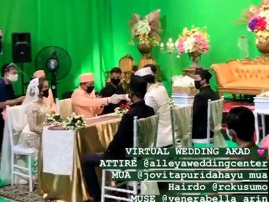 Indonesian virtual wedding