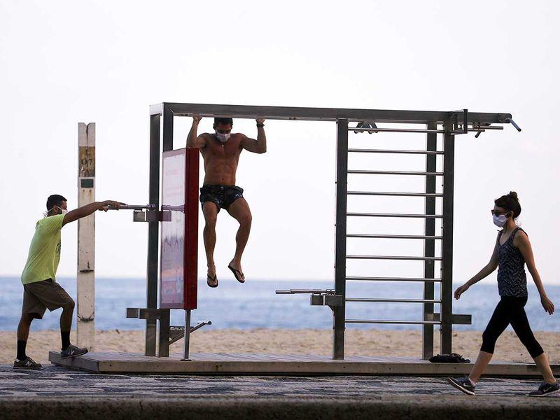 Brazil beach exercise