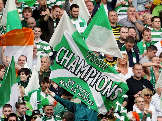 Celtic have won nine league titles in a row