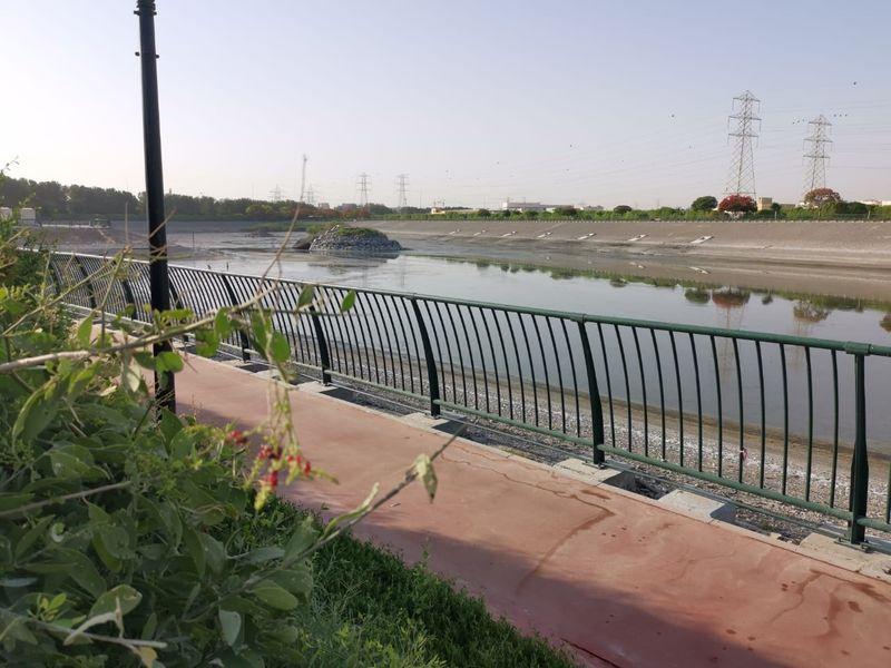 Empty scenes at Al Qusais Pond Park