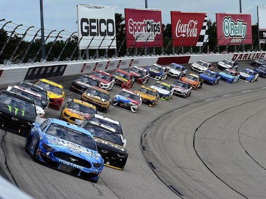 Kevin Harvick leads the way at the Darlington 400.