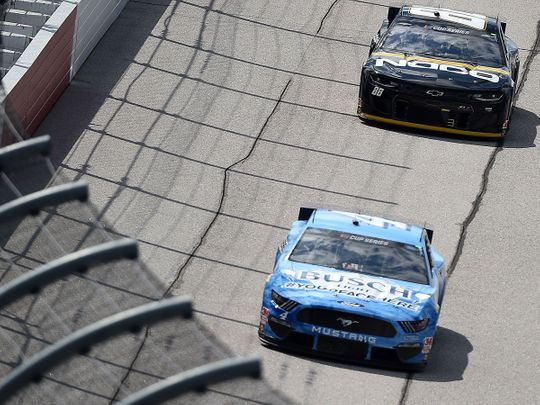 Kevin Harvick leads the way in the Darlington 400.