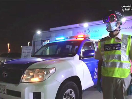 Smart helmets being used by Abu Dhabi Police to detect temperatures