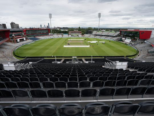 A view of the stadium at Old Trafford cricket ground