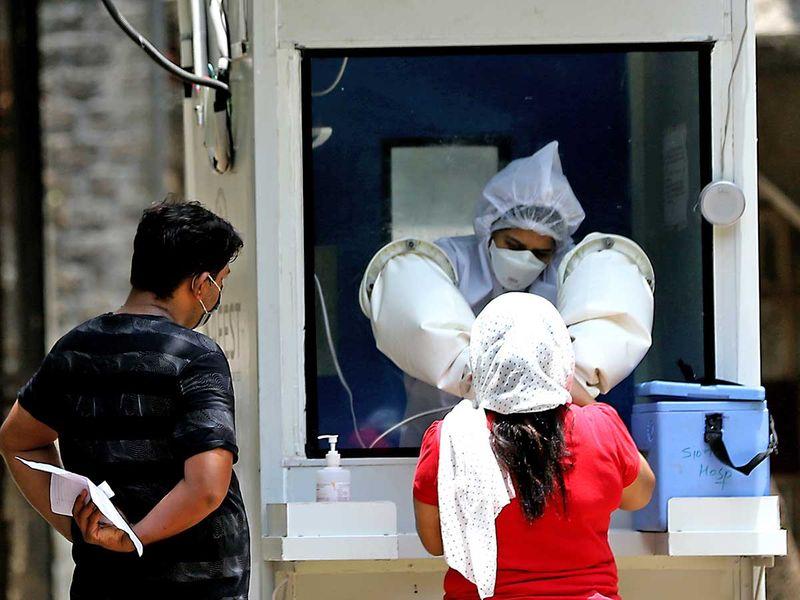 Medical worker Mumbai India