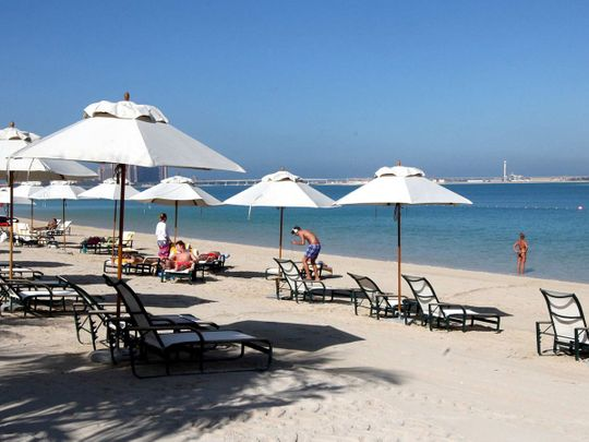 Picture for illustrative purposes: a private hotel beach in UAE