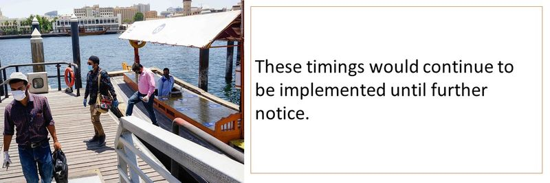 These timings would continue to be implemented until further notice.
