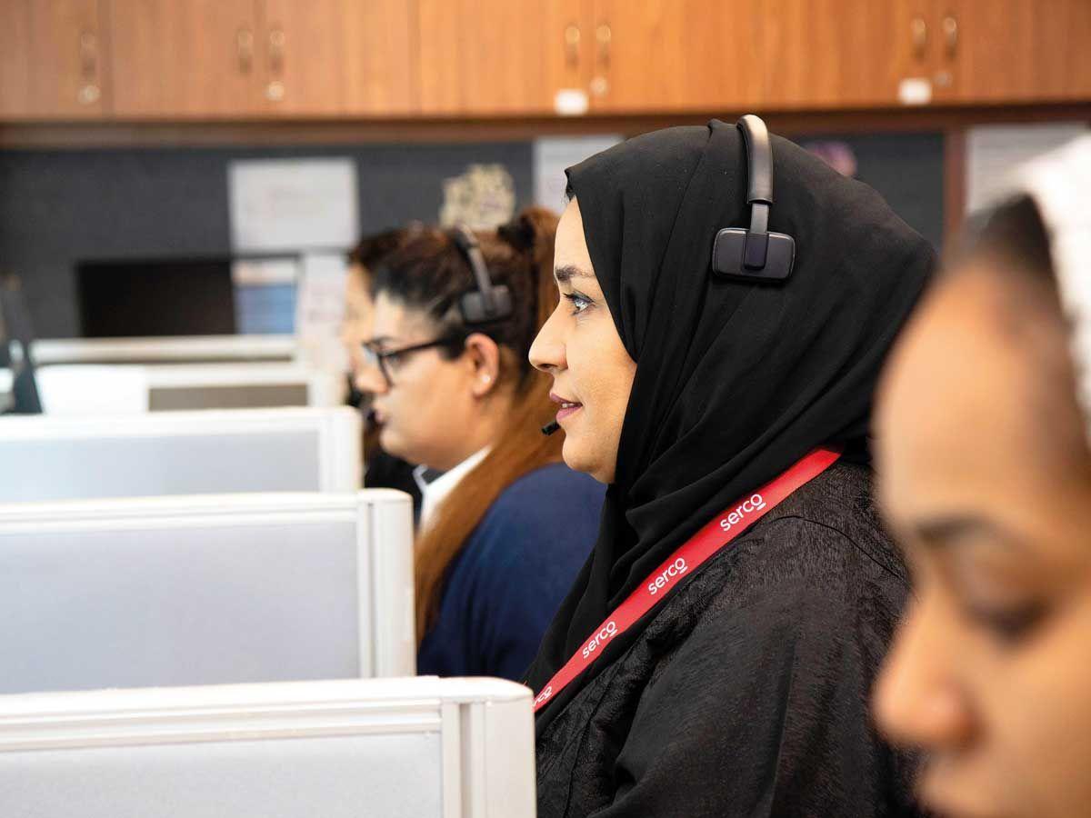 Serco call centre support