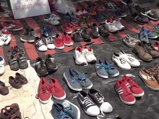 Shoes for migrant workers