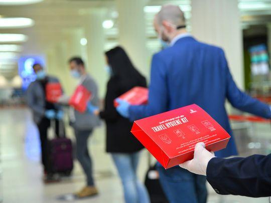 Emirates flight boarding