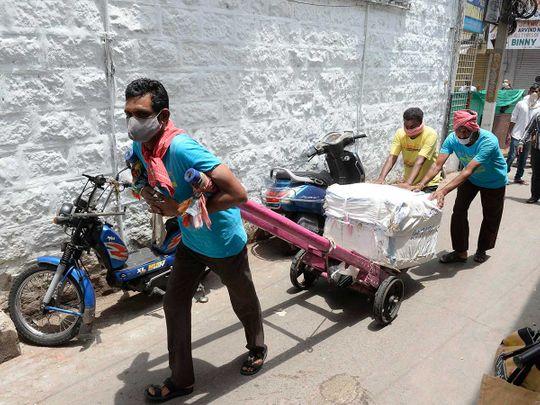 Hyderabad India labourers