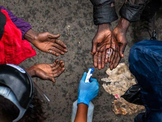 Africa homeless coronavirus sanitiser
