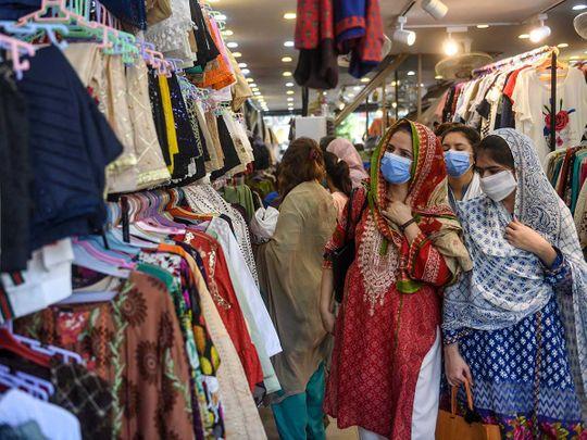 Karachi facemasks shopping clothes