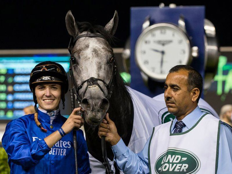 Kevin Stott won with Major Partnership for Godolphin and trainer Saeed bin Suroor at the Dubai World Cup Carnival
