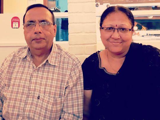 Kusum with her husband Sushil Khemani